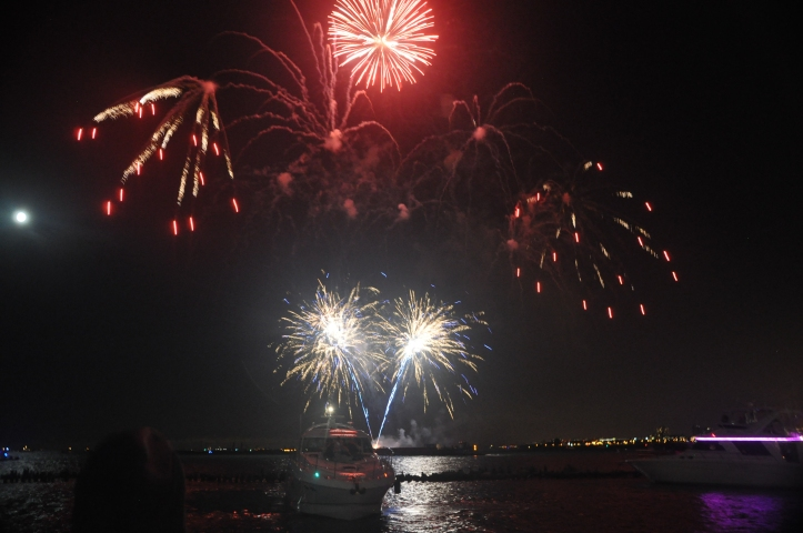 Count your many many blessings; large and small. There is much to celebrate!  Navy Pier fireworks in Chicago. Copyright 2011 Pamela Breitberg