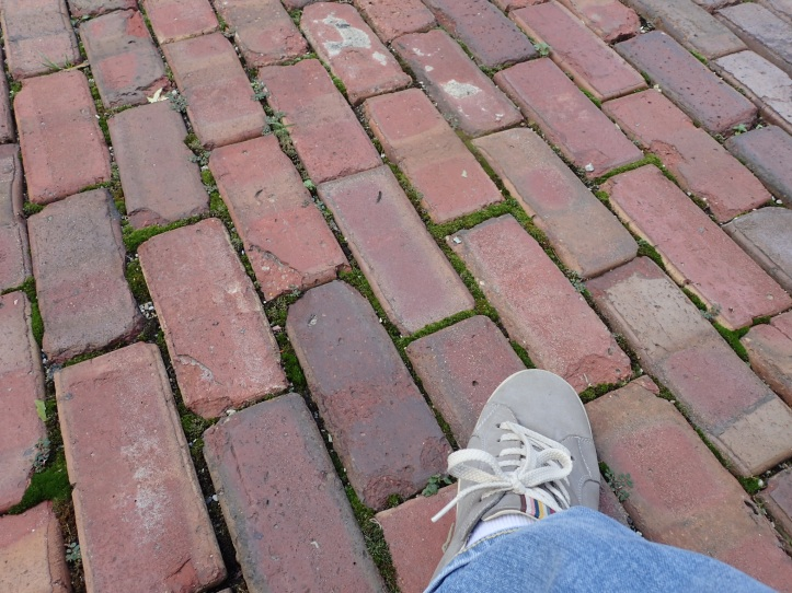 I step on Victorian bricks, on a Victorian Chicago street, with Victorian homes on each side. Who else has walked my steps before?